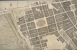 A Plan of the Cities of London and Westminster, and Borough of Southwark; with the contiguous buildings; from an actual survey, taken by John Rocque, Land-Surveyor, and engraved by John Pine